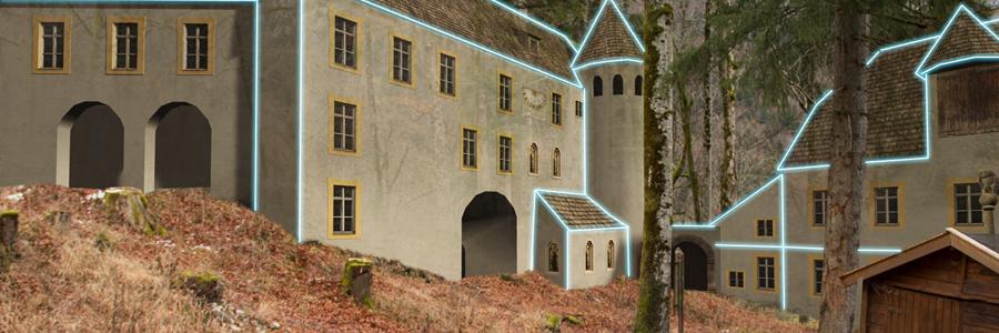 Hohenburg 1700 Torhaus