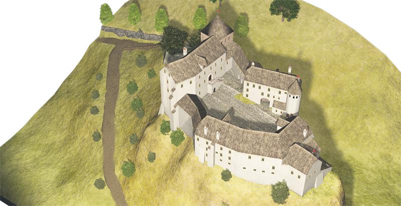Hohenburg 1700 süd-ost Ansicht