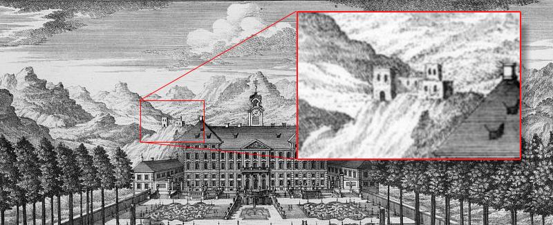 Stich 1720 Diesel Burgruine Schloss Hohenburg