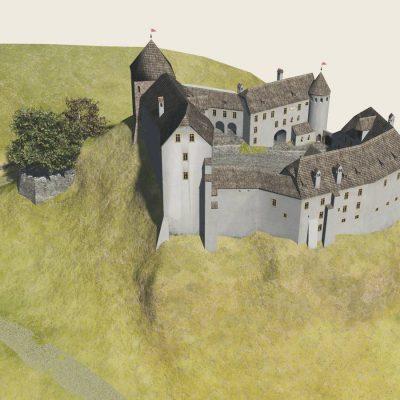 Ansicht wie Stich »Schloss Hochenburg« von 1701