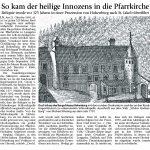 Innozenz kam vor 325 Jahren in die Pfarrkirche Lenggries.